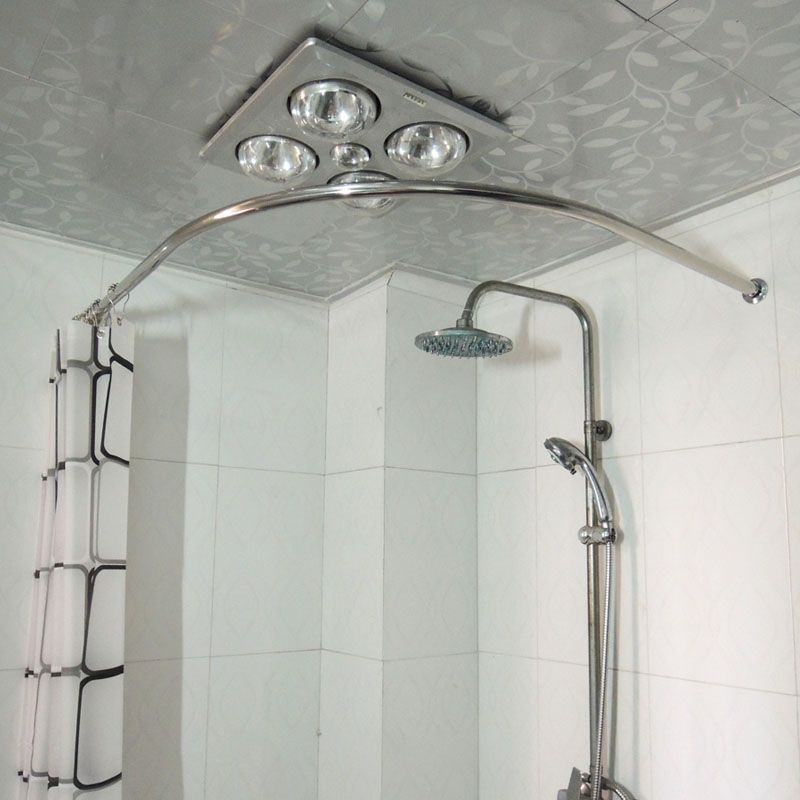 Copper thickening sus304 stainless steel l shower curtain rod ...