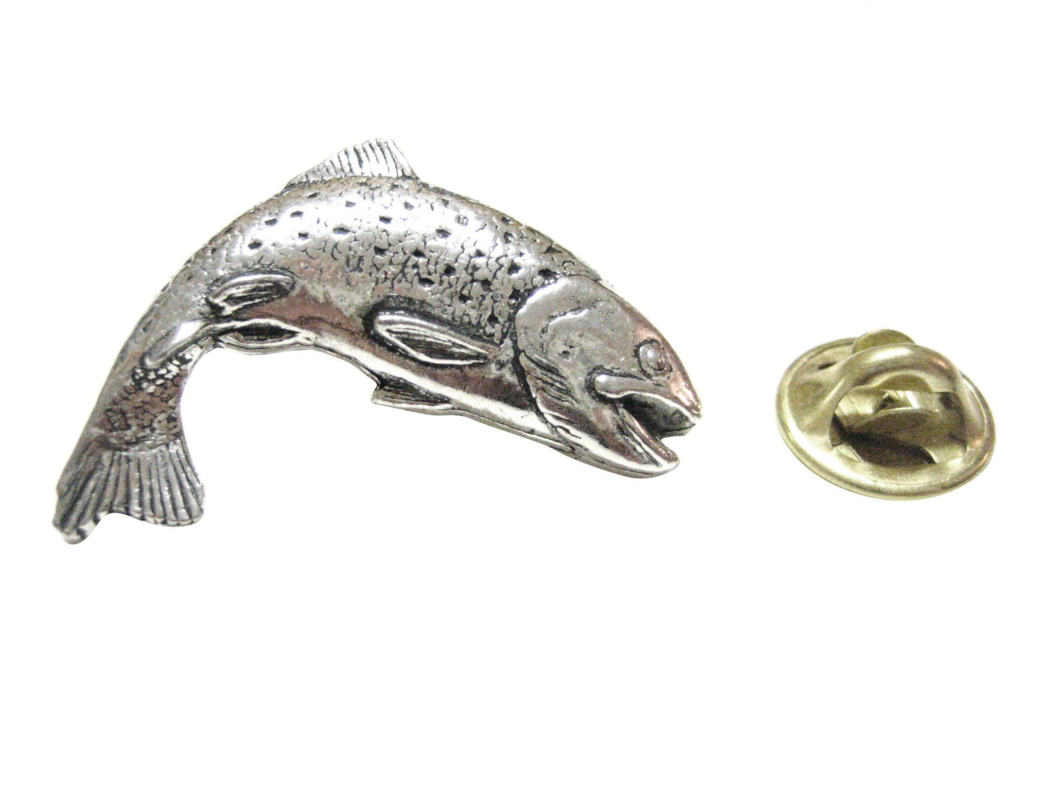 cb9e98537aa78 Splashing Salmon Fish Lapel Pin Lapel Pins