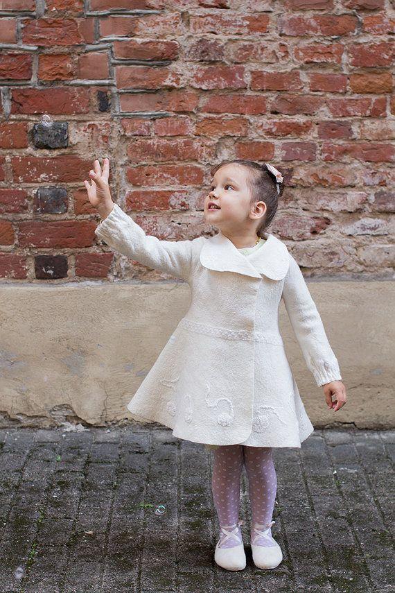 73a13baf83b0 White wool coat for girls