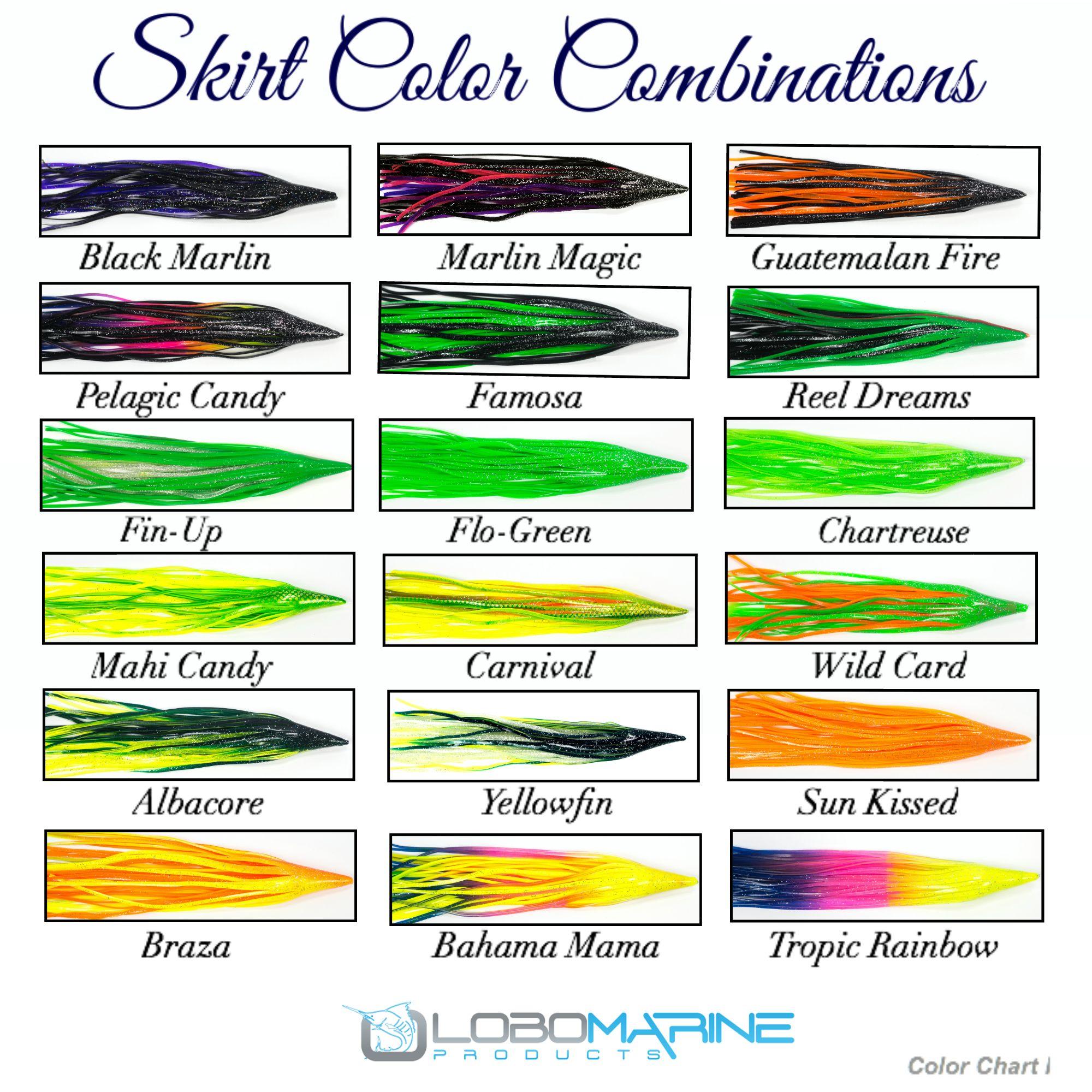 Lobo sport fishing color chart i gone fishing boating lobo sport fishing color chart i nvjuhfo Gallery