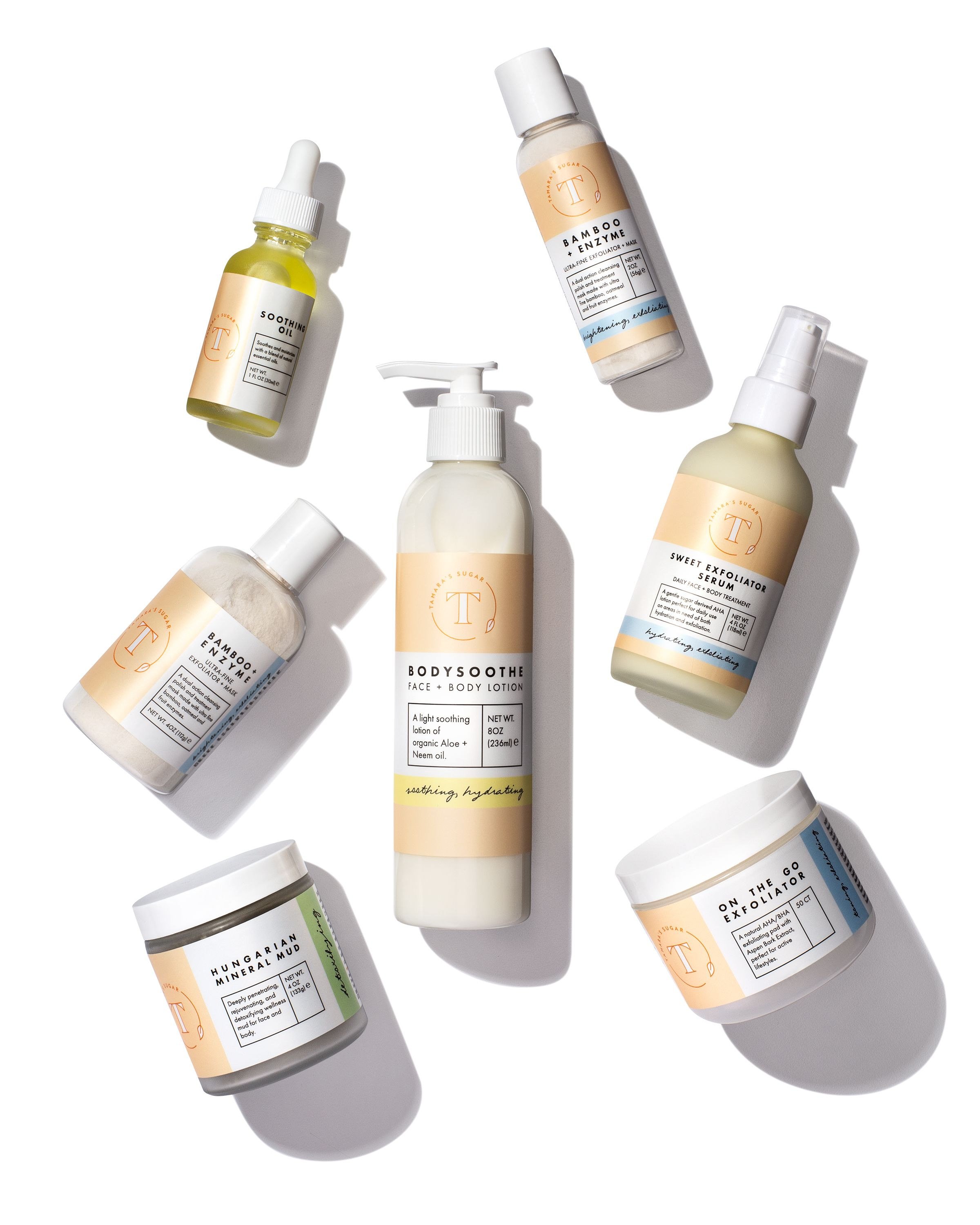 Tamara's Sugar Retail Line BodySoothe Lotion, Soothing Oil