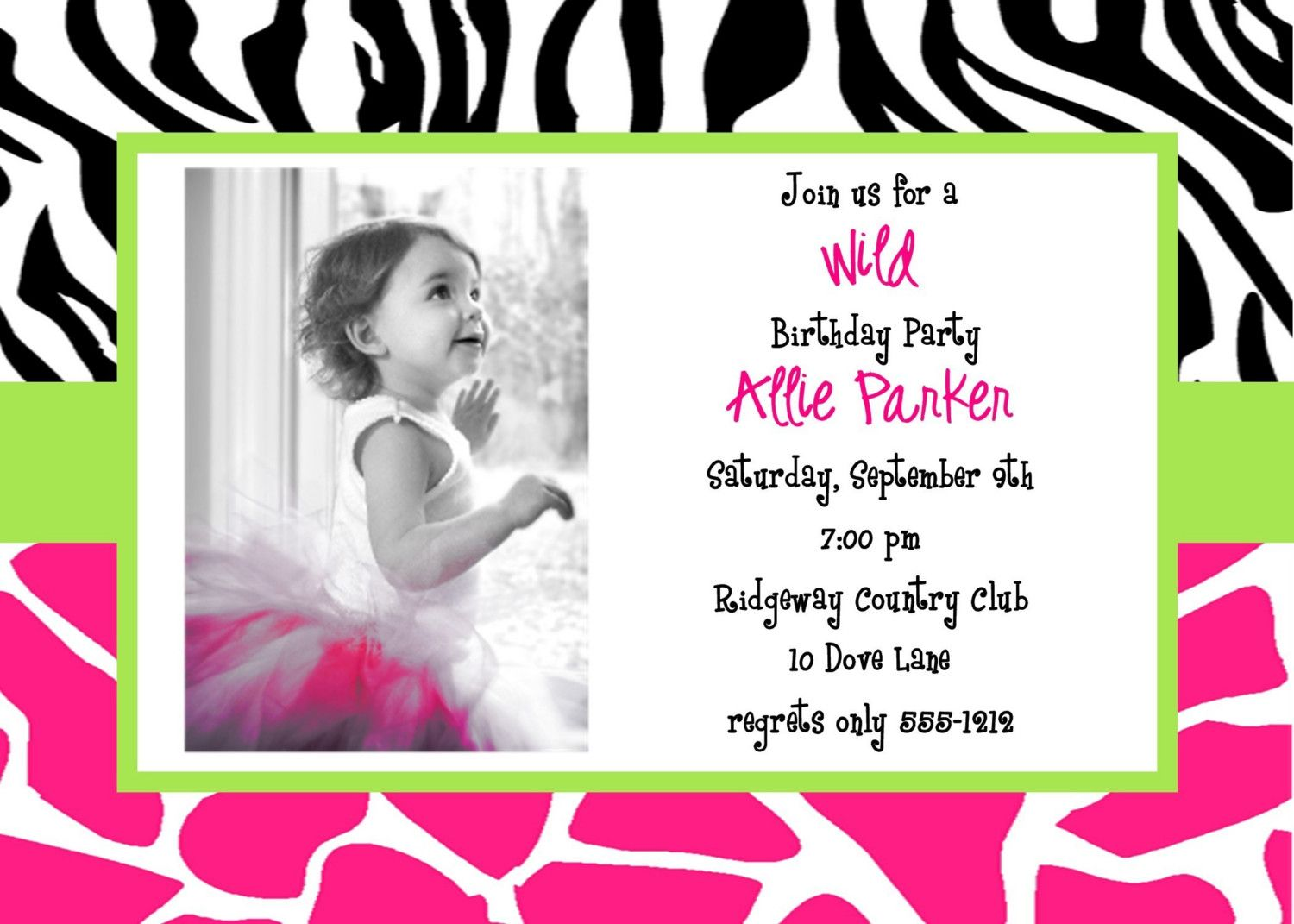 birthday invitation card design template free