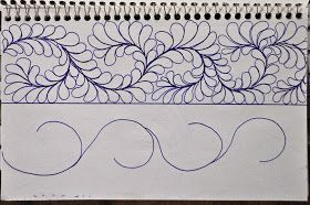 Here are a few  border designs   in one of my Sketch Books...           As you can see from the diagram on the left page ,   these are...