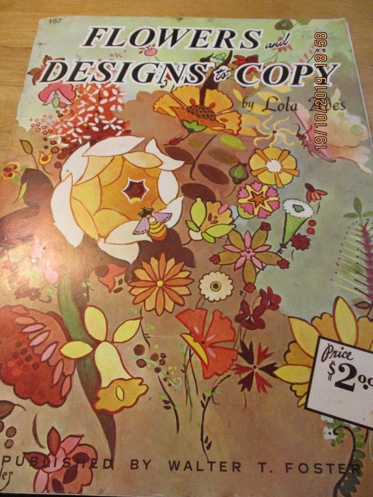 Flowers Designs To Copy By Lola Ades Published By Walter Foster Pb With Images Walter Foster The Fosters Flower Designs