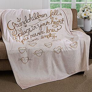 personalized fleece blanket 50x60 for grandparents gift ideas