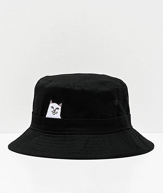 Ripndip Lord Nermal Black Bucket Hat Zumiez Black Bucket Hat Outfits With Hats Bucket Hat Outfit
