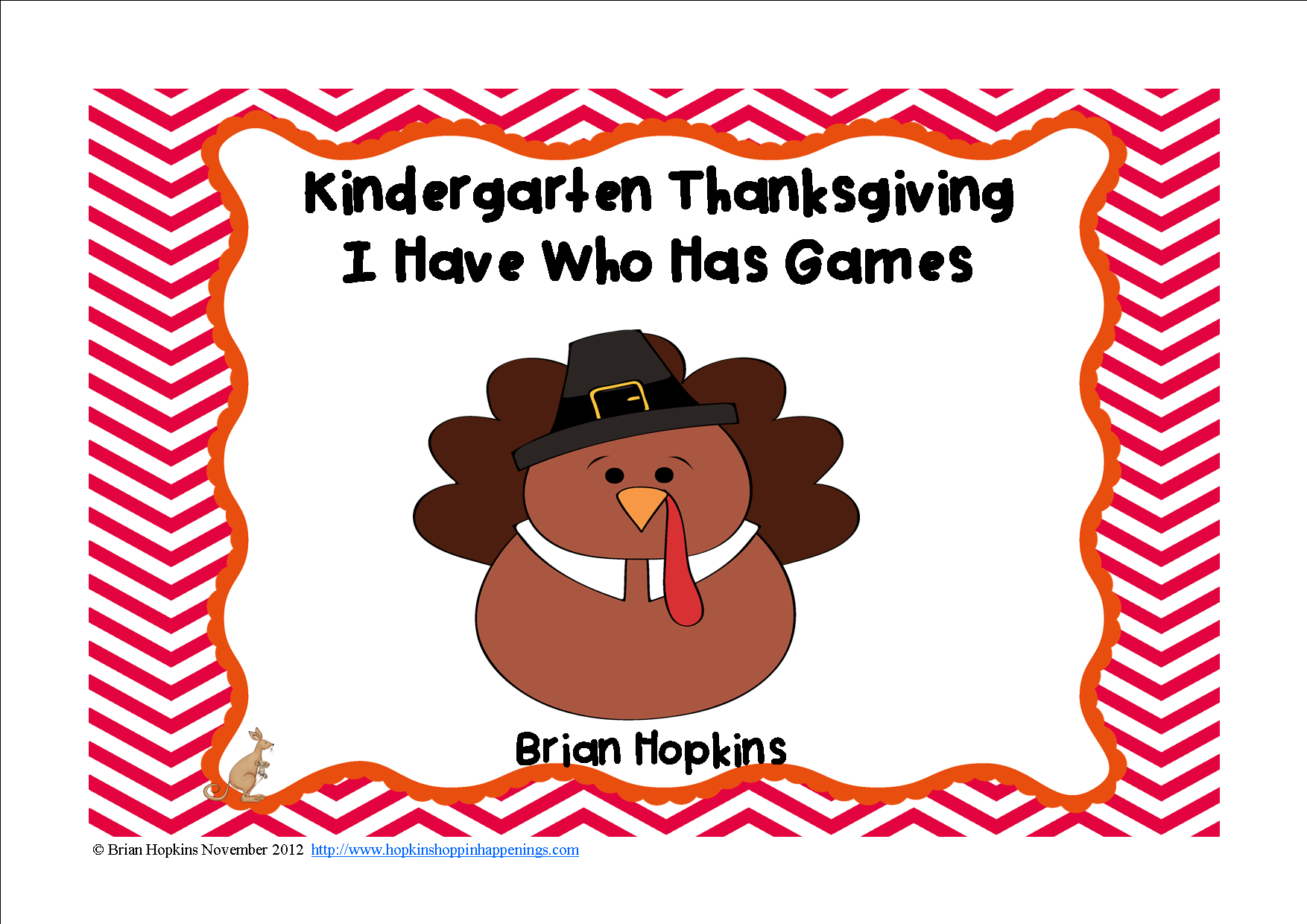 Kindergarten Thanksgiving I Have Who Has Games 4