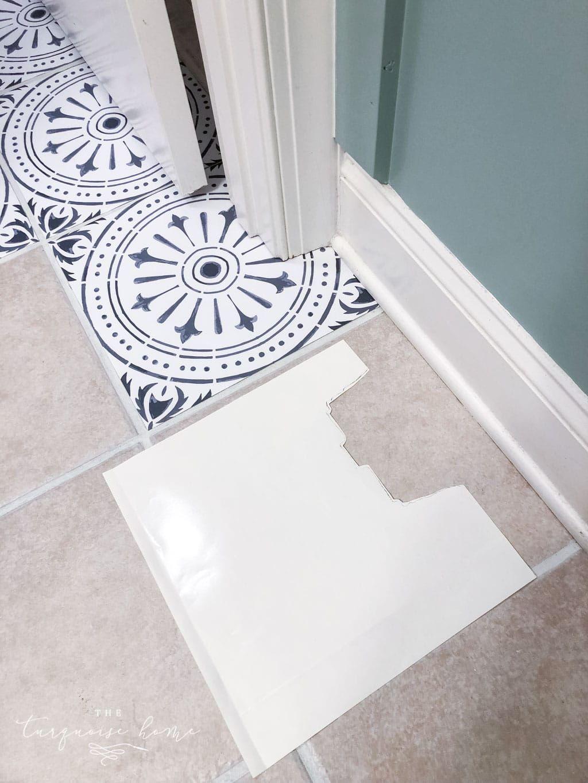DIY Peel and Stick Vinyl Floor Tile Peel, stick vinyl