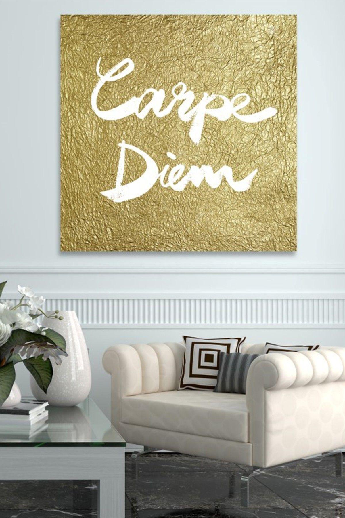 Carpe Diem Gold Canvas Art by Oliver Gal Gallery on @HauteLook ...