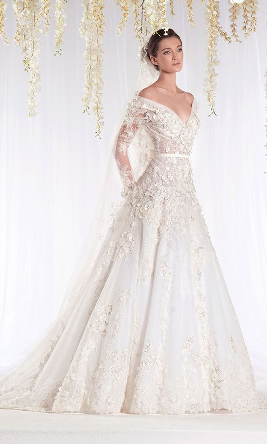 Maysociety ziad nakad the white realm bridal collection for Ziad nakad wedding dresses prices