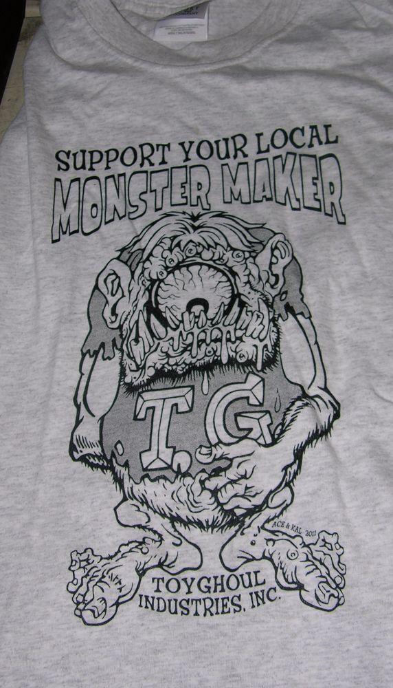 Best Monster Maker Support T Shirt Grey 3Xl Rat Fink W**Rd* 400 x 300