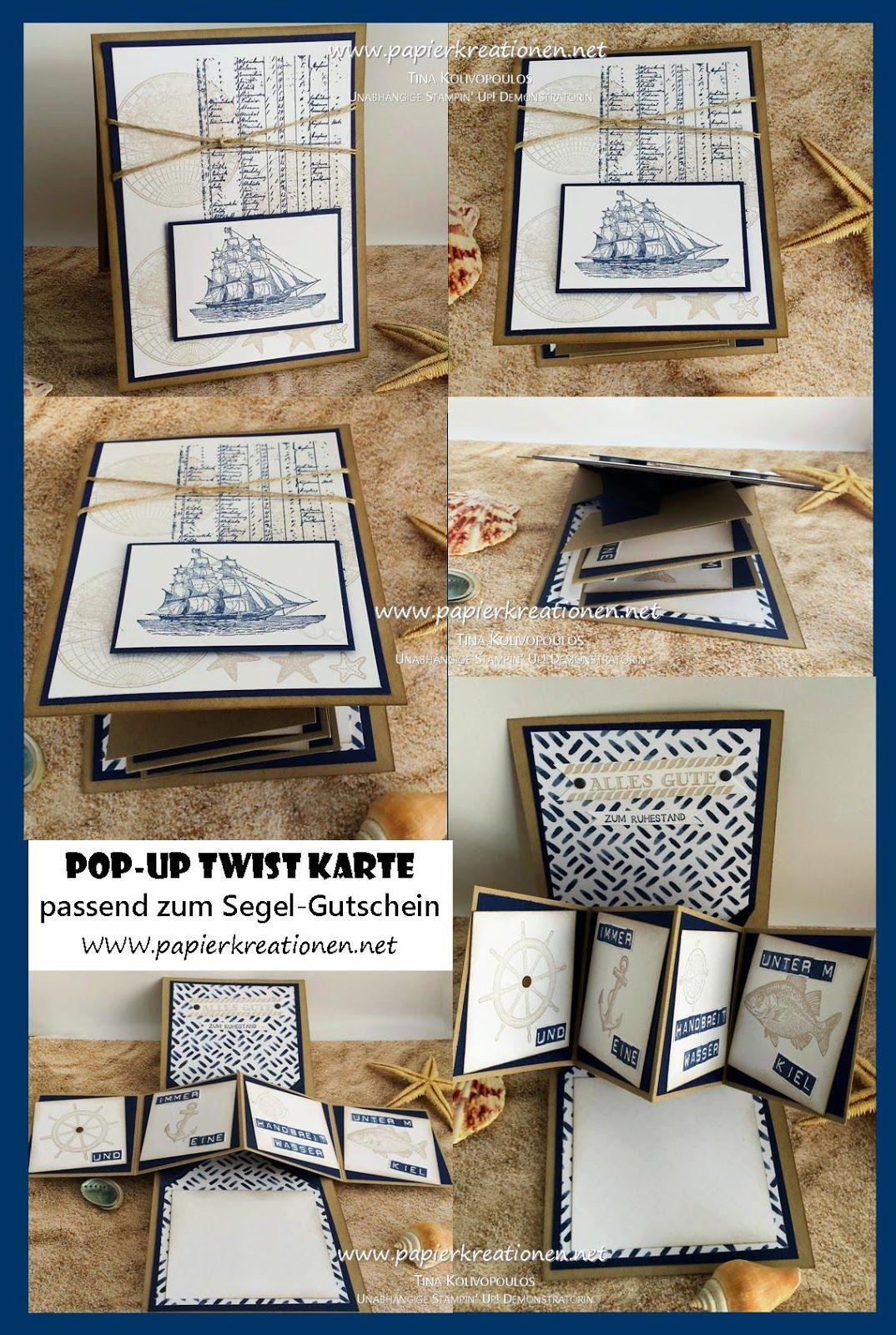 pop up twist card pop up panel karte stampin 39 up segeln 2017 stampin up pinterest. Black Bedroom Furniture Sets. Home Design Ideas
