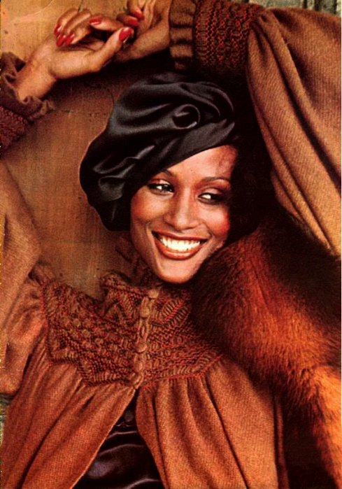 Beverly in Vogue Italia magazine, 1977.