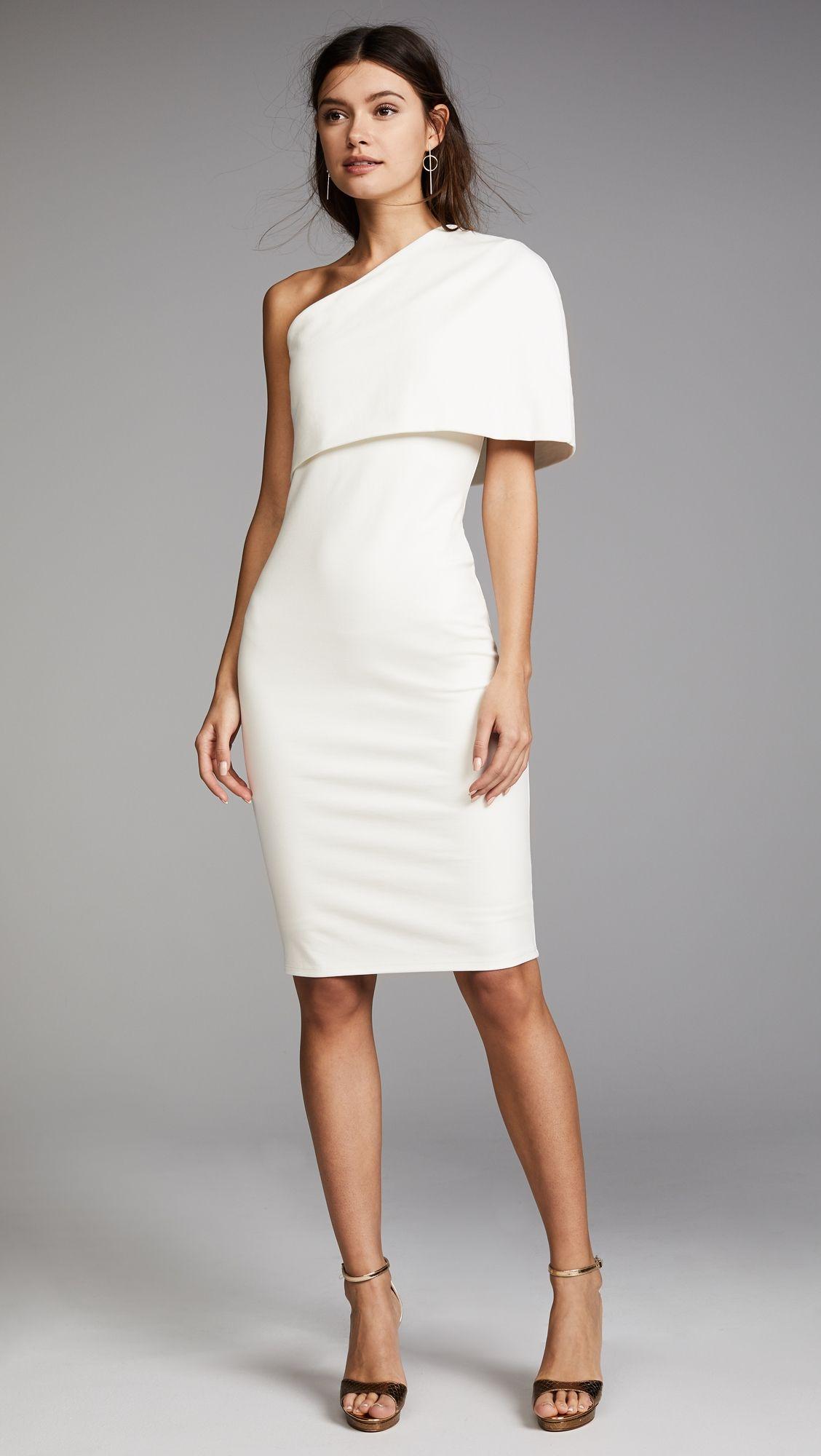 Michelle Mason Asymmetrical Cocoon Dress White Cocktail Dress Cocktail Evening Dresses Dinner Dress [ 2000 x 1128 Pixel ]