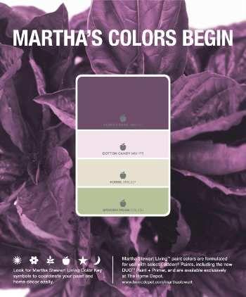Martha Stewart Living Color Paint: Purple Basil, Cotton Candy, Fossil,  Spanish Moss