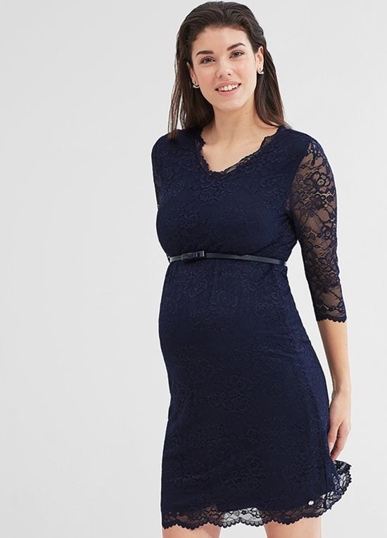 Queen Bee Night Blue Lace Maternity Evening Dress by Esprit ... bdf928b4d6f