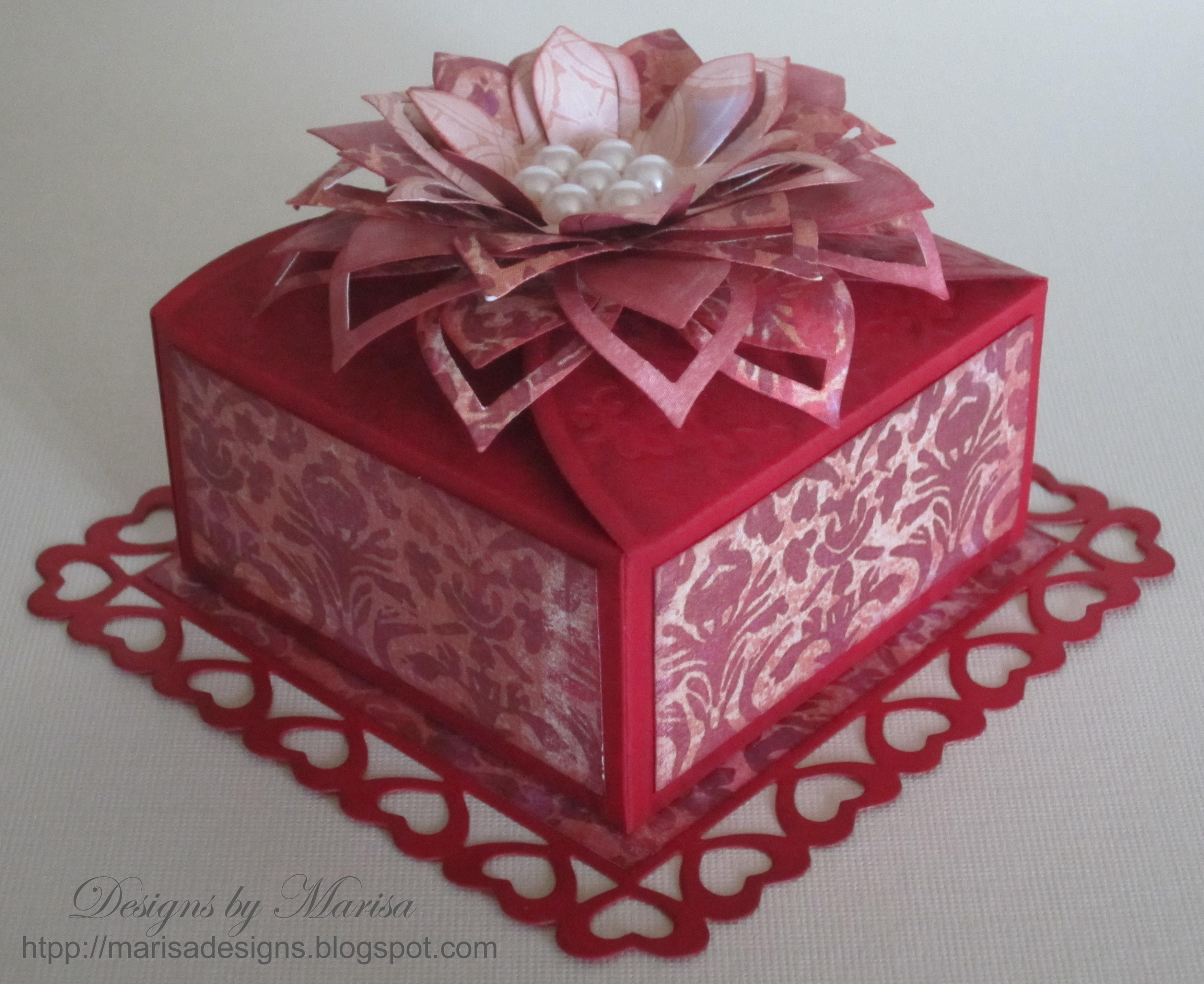 Valentine S Day Box Using Spellbinders Die Templates Gift Boxes