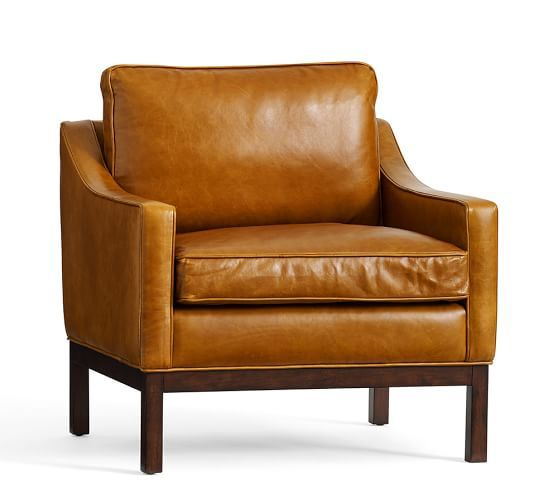 Dale Leather Armchair Leather Armchair Leather Side Chair Leather Accent Chair