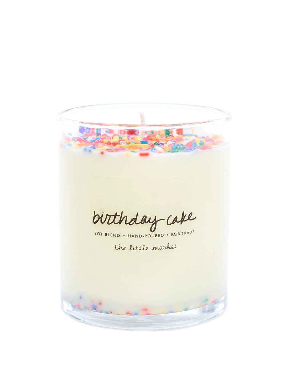 Fair Trade Birthday Cake Scented Soy Candle Candles