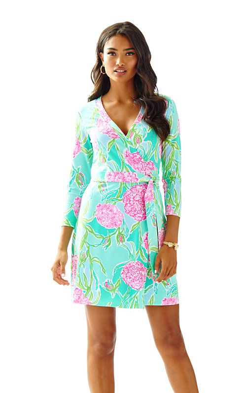 Meridan Printed Wrap Dress Lilly Pulitzer Lilly
