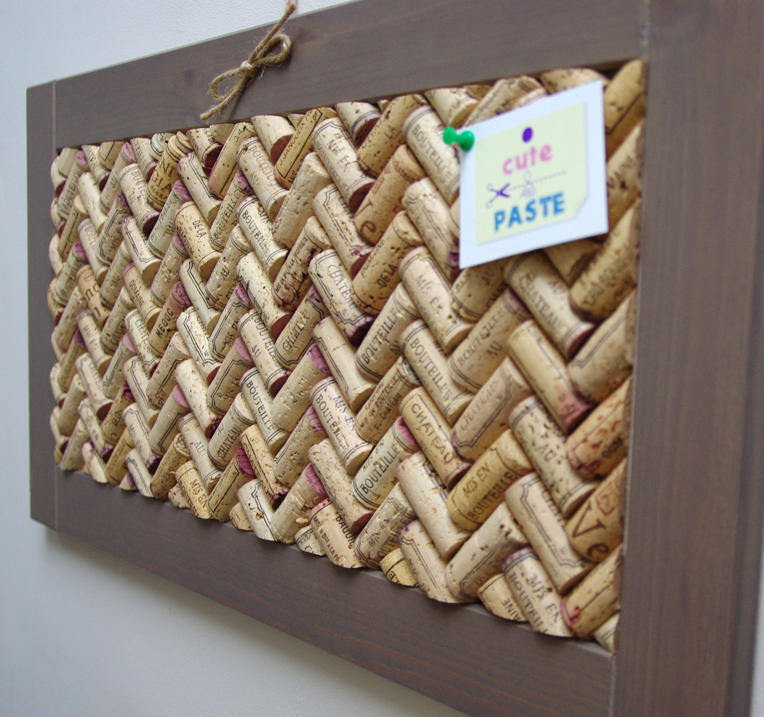 Cork boards with wine corks makerhood norwood things for Crafts to make with wine corks