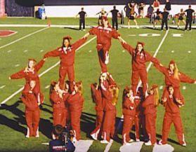 Xmas Tree Formation Cheer Stunts College Cheerleading Cheer Coaches