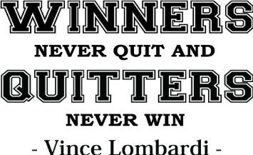 Amazon Com Vince Lombardi Winners Never Quit And Quitters