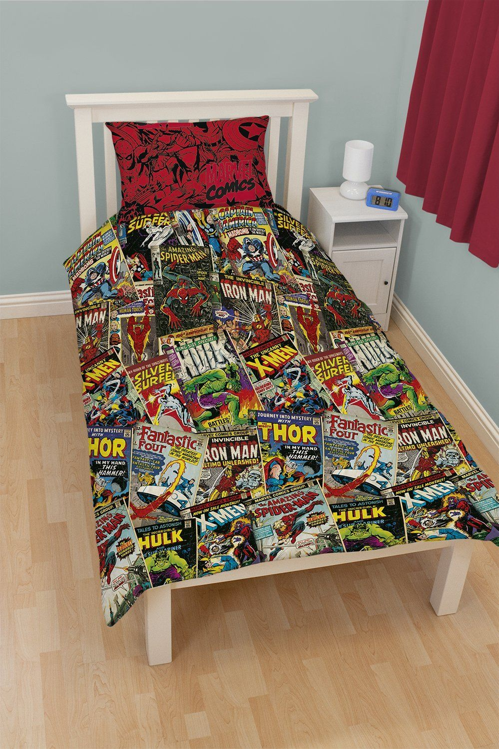 Marvel comic heroes single bed duvet cover set ease bedding with