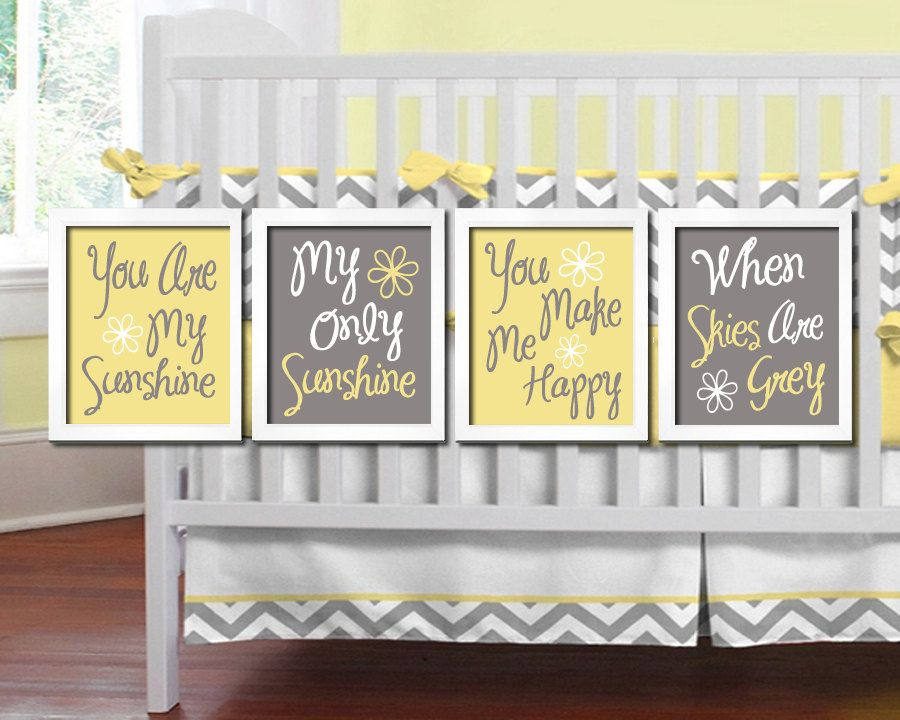 You Are My SUNSHINE Wall Art, CANVAS or Prints Baby Girl NURSERY ...