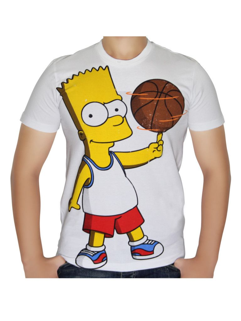 Bart basketball t shirt from the simpsons stuff to buy pinterest - Bart et milhouse ...