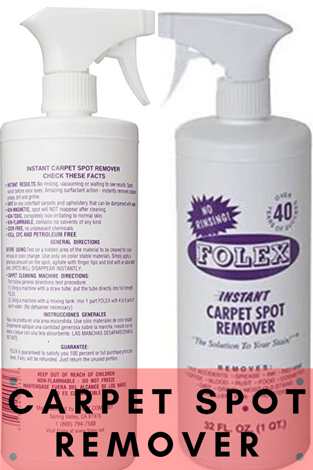 Folex Carpet Spot Remover By Folex In 2020 Carpet Spot Remover How To Remove Tough Spots