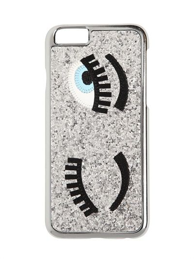 "CHIARA FERRAGNI - GLITZERNDE IPHONE 6-HÜLLE ""FLIRTING"" - LUISAVIAROMA - LUXURY SHOPPING WORLDWIDE SHIPPING - FLORENZ"