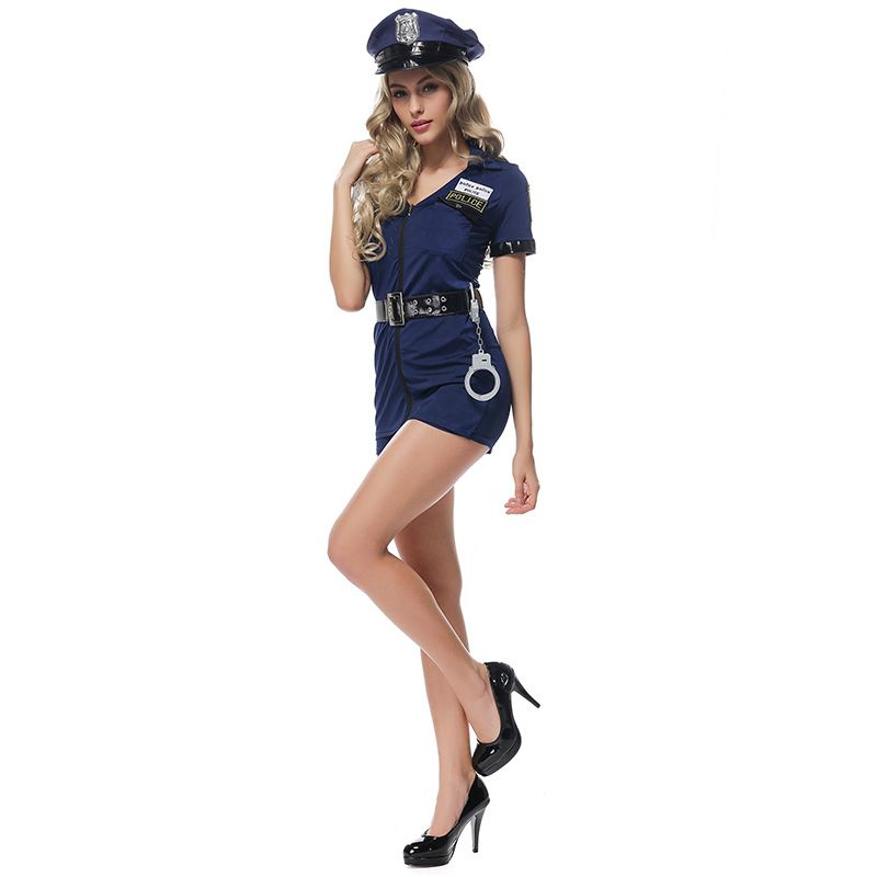 Womens police costume adult sexy cop uniform halloween policewoman party outfits