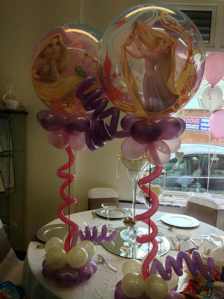 Rapunzel Raiponce Pinterest Centros de mesa, Ideas con globos