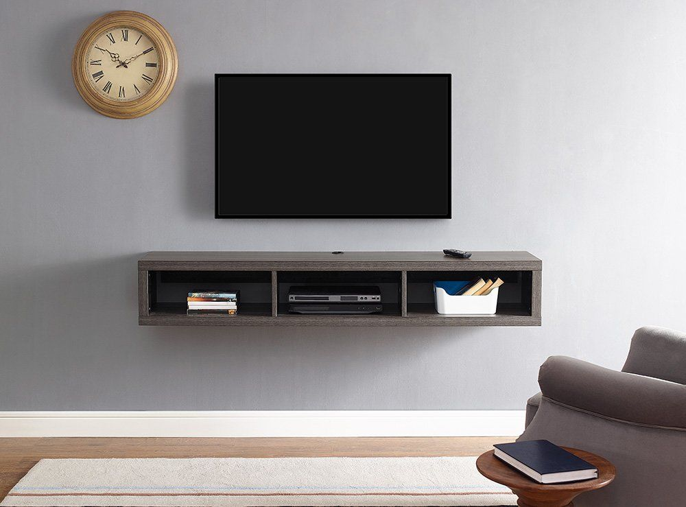 Shallow Wall Mounted Tv Stand For Tvs Up To 60 H Living Room