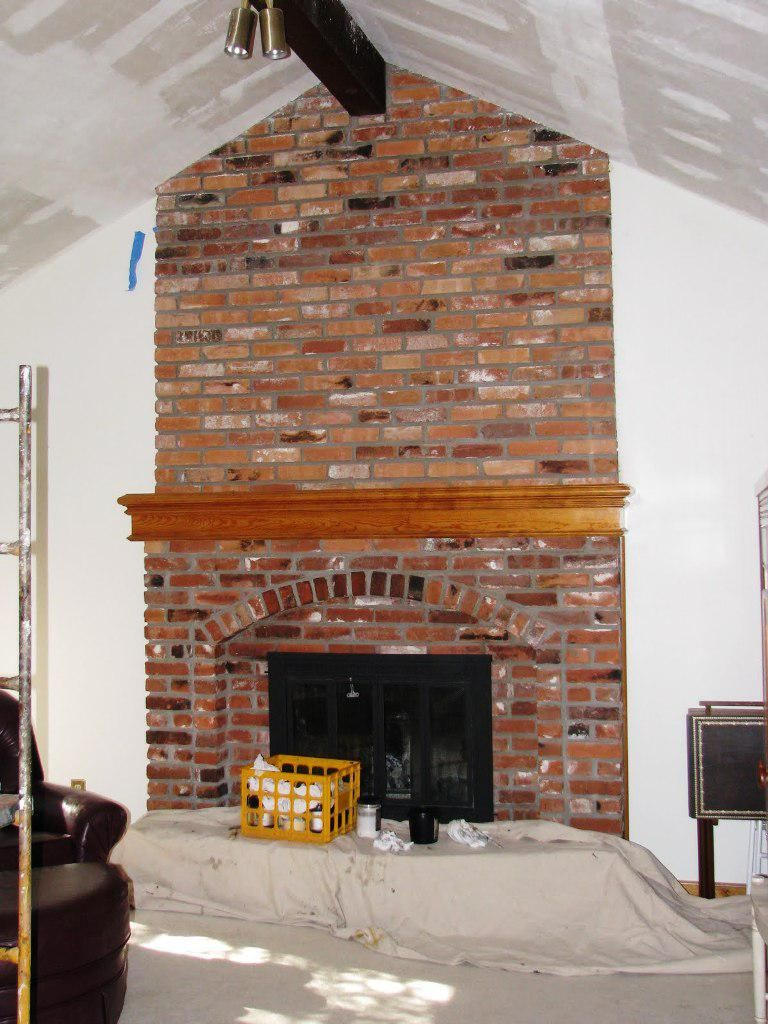 Floor To Ceiling Brick Fireplace Makeover Ideas All In One