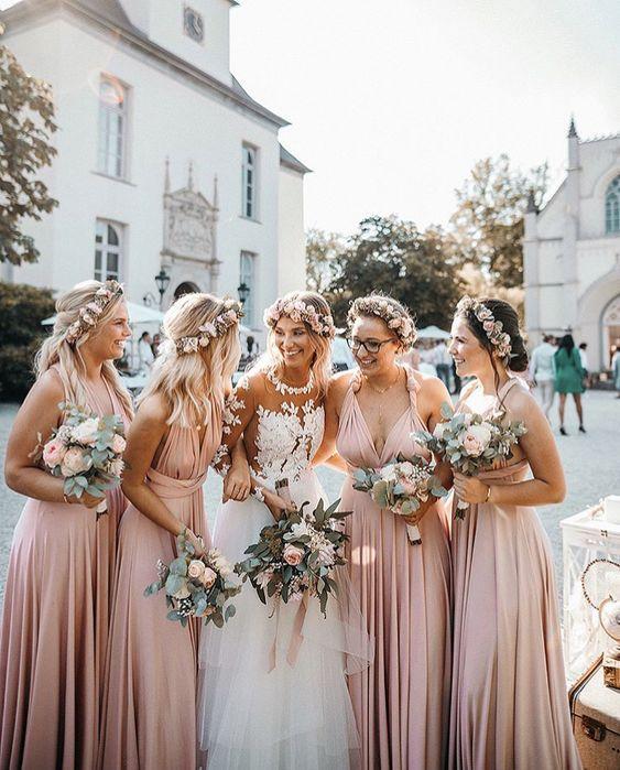 35 MOST ROMANTIC DUSTY ROSE WEDDING IDEAS – wedtrendy #dustyrosewedding