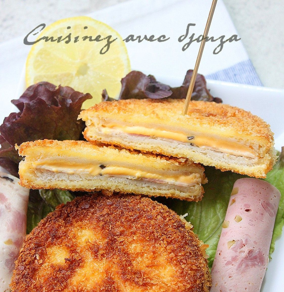 La Cuisine De Djouza: Sandwichs Pain De Mie Pané Façon Cordon Bleu