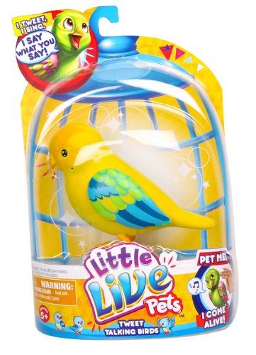 Little Live Pets Bird 3 Cheeky Charlie Single Pack Playset Little Live Pets Fun Cookies Pets