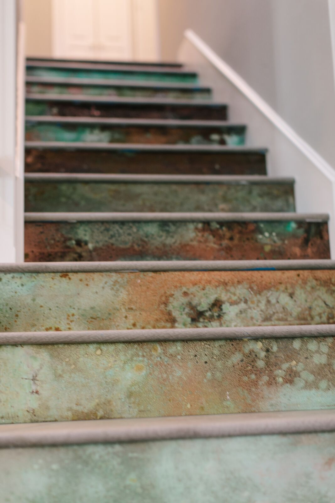 These DIY Copper Stair Risers Are Far From Cookie Cutter. #HiddenPotential