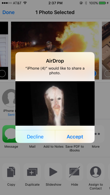 I would accept that cause I airdrop stuff like this all