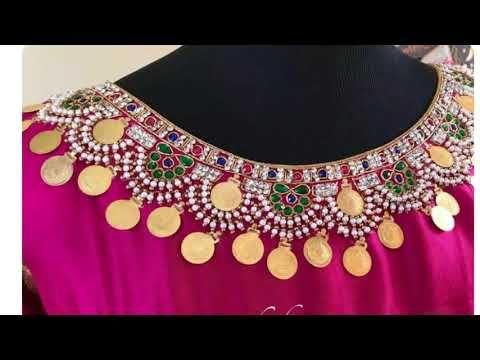 16ee06d446eef3 Gorgeous Kasu embellished work designs - YouTube | Saree blouses in ...