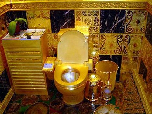 "The Guinness World Records ""Public toilets"" made of gold, appeared ..."