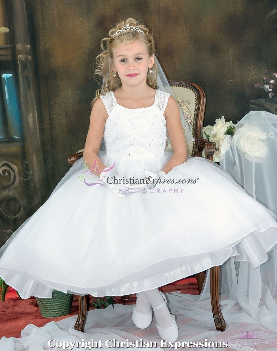6aaa9a23428 Lace Ballerina Style First Communion Dress size 14