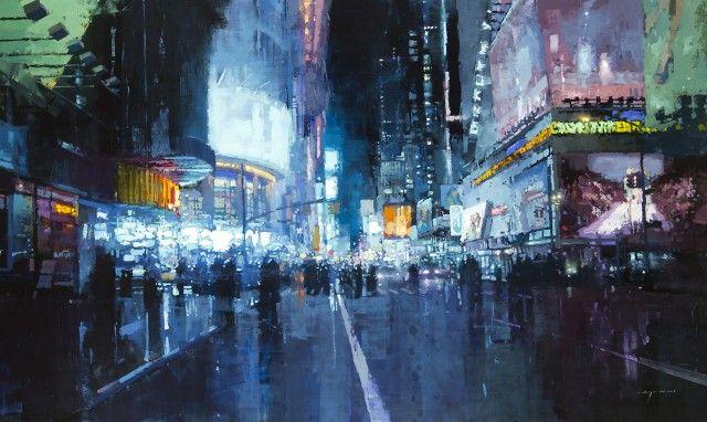 Superbes peintures des rues des villes San Francisco et New-York ...