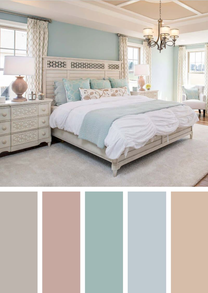 pastel color scheme bedroom Cottage Chic Suite with Icy Pastels | My perfect house in
