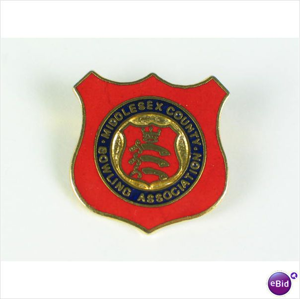 Middlesex County Bowling Association Enamel Badge - For Sale with Rhodons Antiques and Collectables on eBid United Kingdom