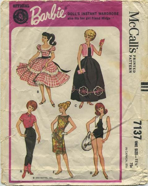 Vintage Barbie™ Doll Clothes Sewing Pattern | Official Mattel Barbie ...