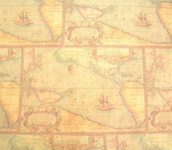 Old world map wrapping paper 10 ft x 2 ft roll masculine gift kraft paper old world map wrapping paper 10 ft roll fathers day gumiabroncs Image collections