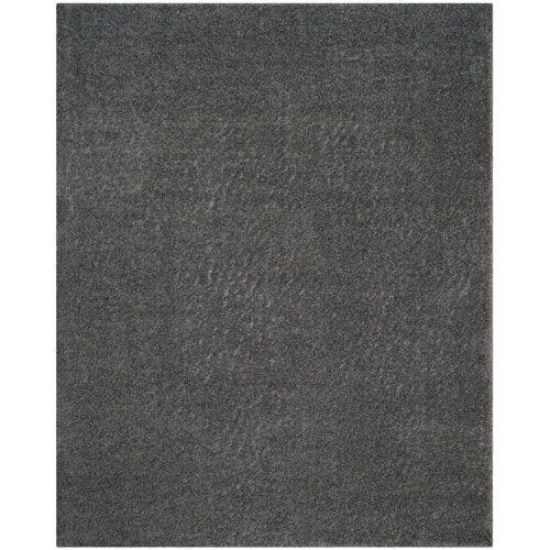 Arizona Shag Dark Gray Rectangular: 8 Ft. x 10 Ft. Rug - (In No Image Available)